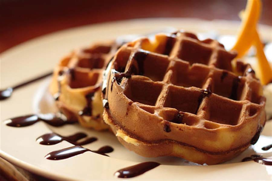 Delicious Chocolate Belgian Waffle Recipe